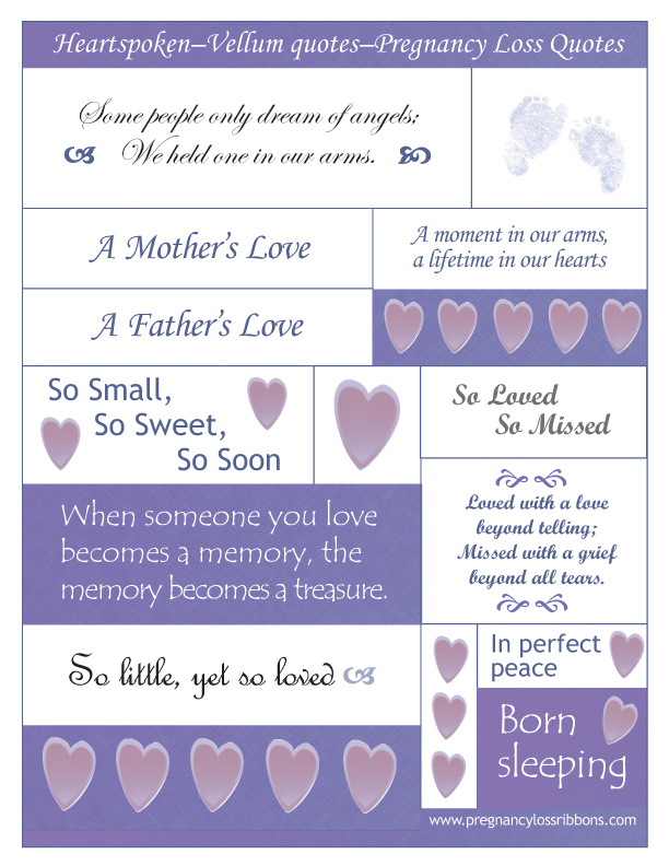 Pregnancy Loss Quotes Inspiration Scrapbook Your Baby  Pregnancy Loss Ribbons